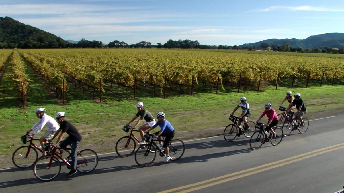 Các tay lái tập đạp xe theo nhóm trên xe đạp road