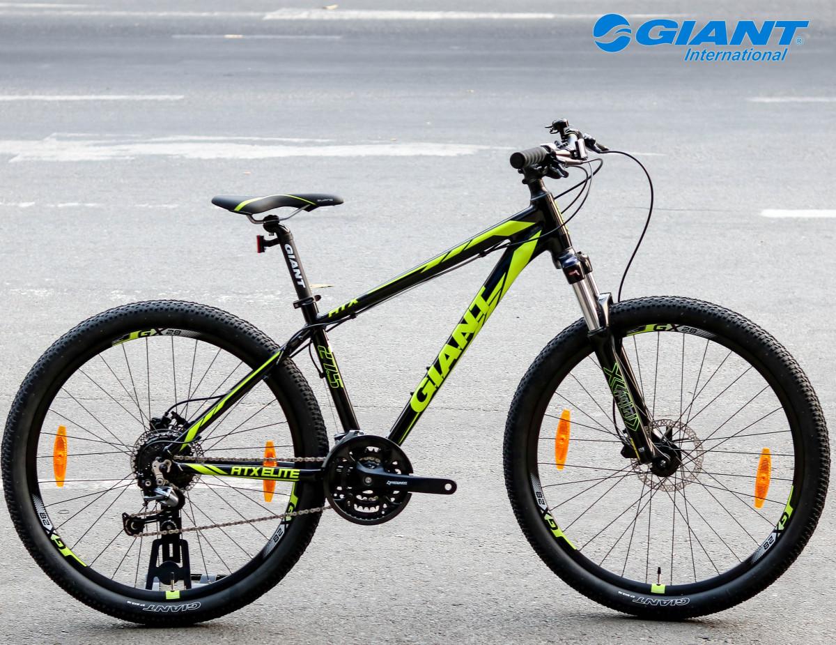 Xe đạp Giant ATX Elite 1 với màu đen kết hợp vàng bắt mắt