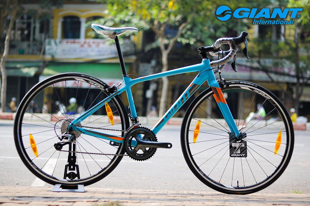Xe đạp Giant Contend SL 2 phiên bản màu xanh hài hòa