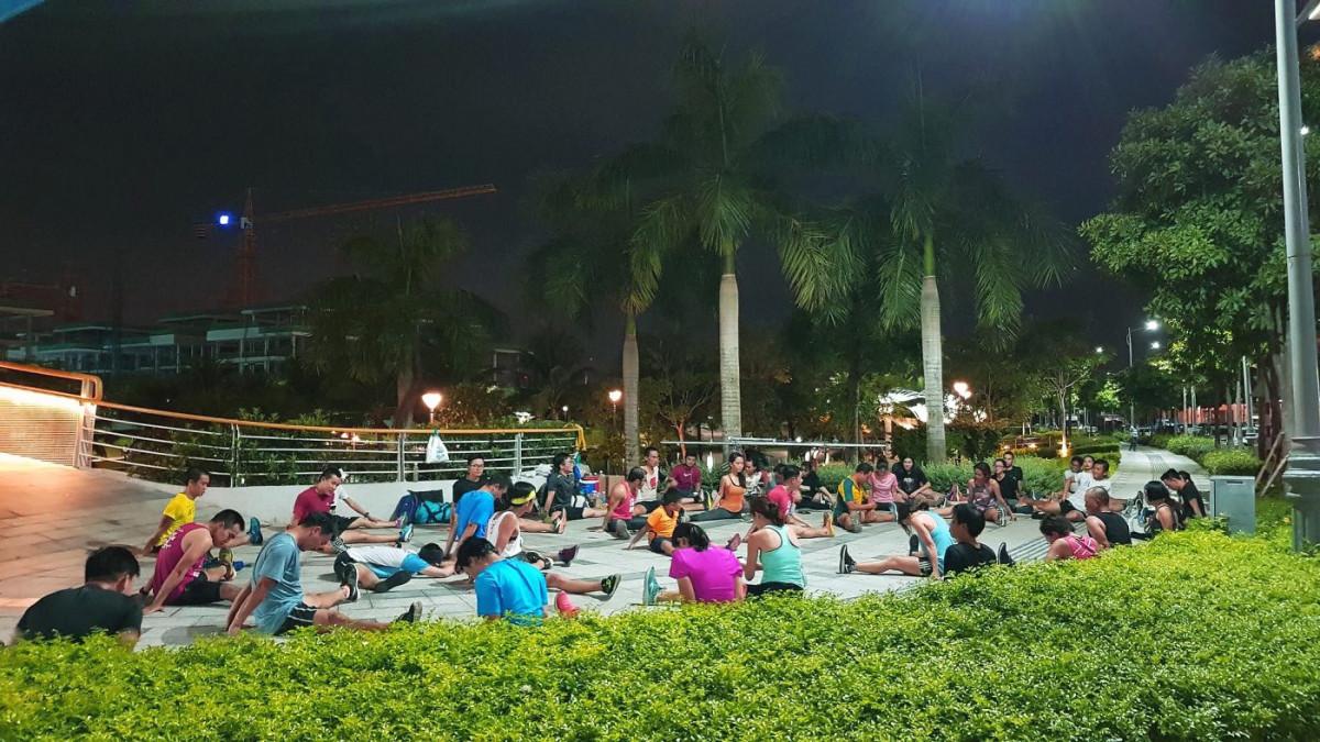 Nhóm SRC vẫn miệt mài tập luyện tại khu đô thị Sala (nguồn: SRC)