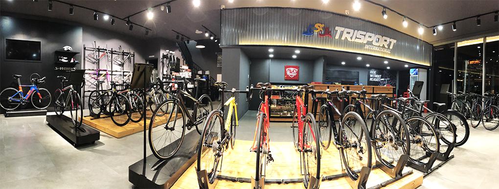 Không gian tầng 1 Showroom Trisport International