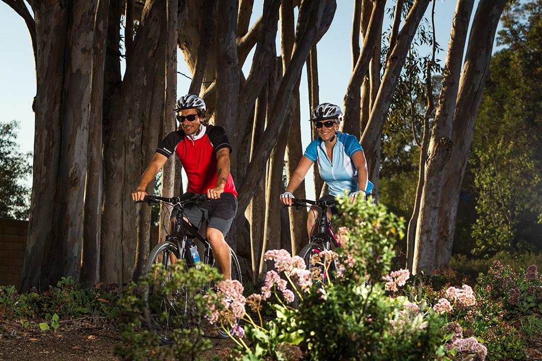 Có nhiều phụ nữ trung niên lựa chọn cách đạp xe nhằm thư giãn, nâng cao sức khoẻ