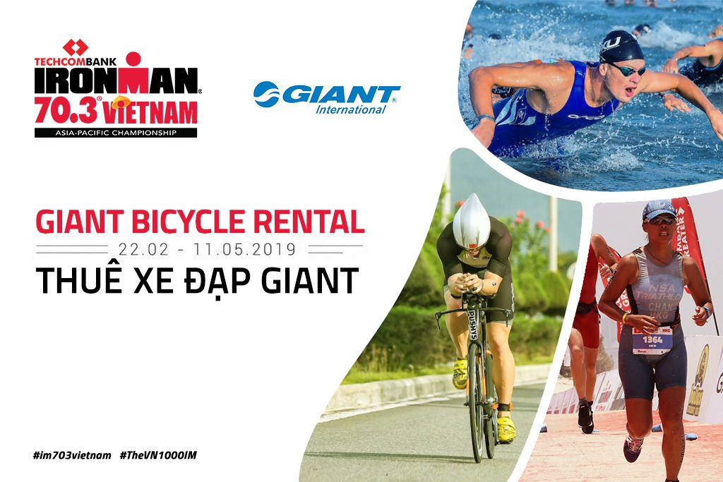 READY TO RIDE? RENT A GAINT INTERNATIONAL BIKE for THE TECHCOMBANK IRONMAN 70.3 ASIA – PACIFIC CHAMPIONSHIP, Vietnam