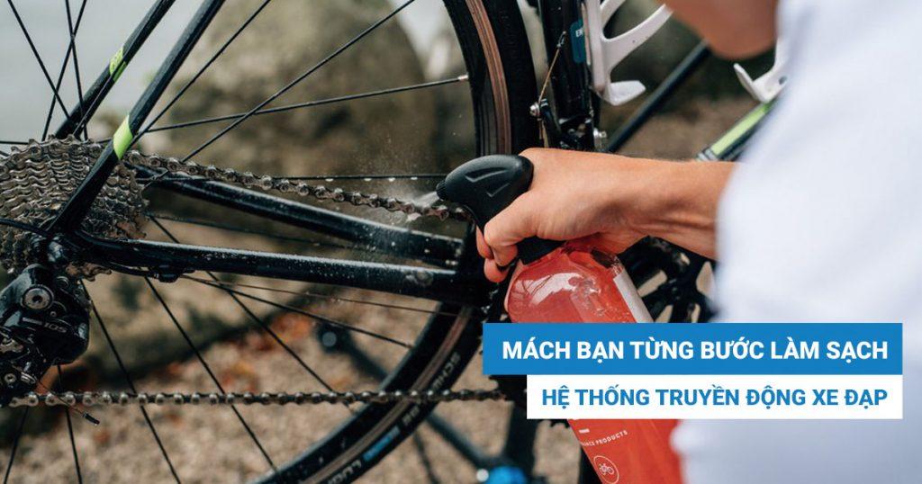 Mách bạn từng bước làm sạch hệ thống truyền động xe đạp!