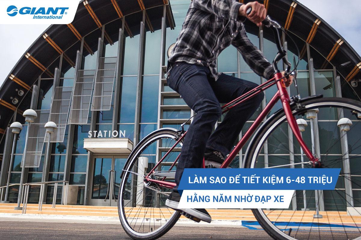 Làm sao để tiết kiệm 6 – 48 triệu hằng năm nhờ đạp xe?