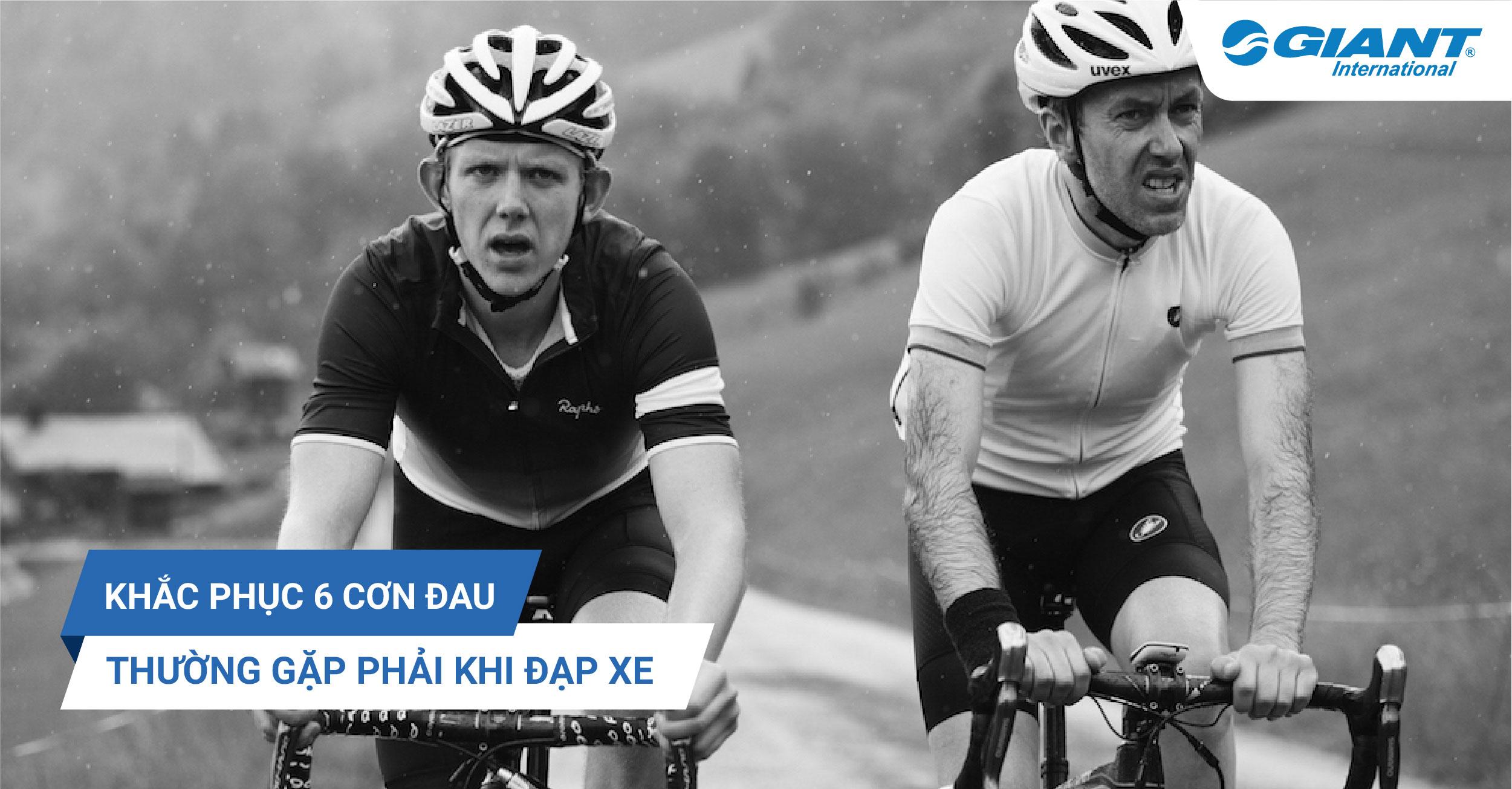 Khắc phục 6 cơn đau thường gặp khi đạp xe!