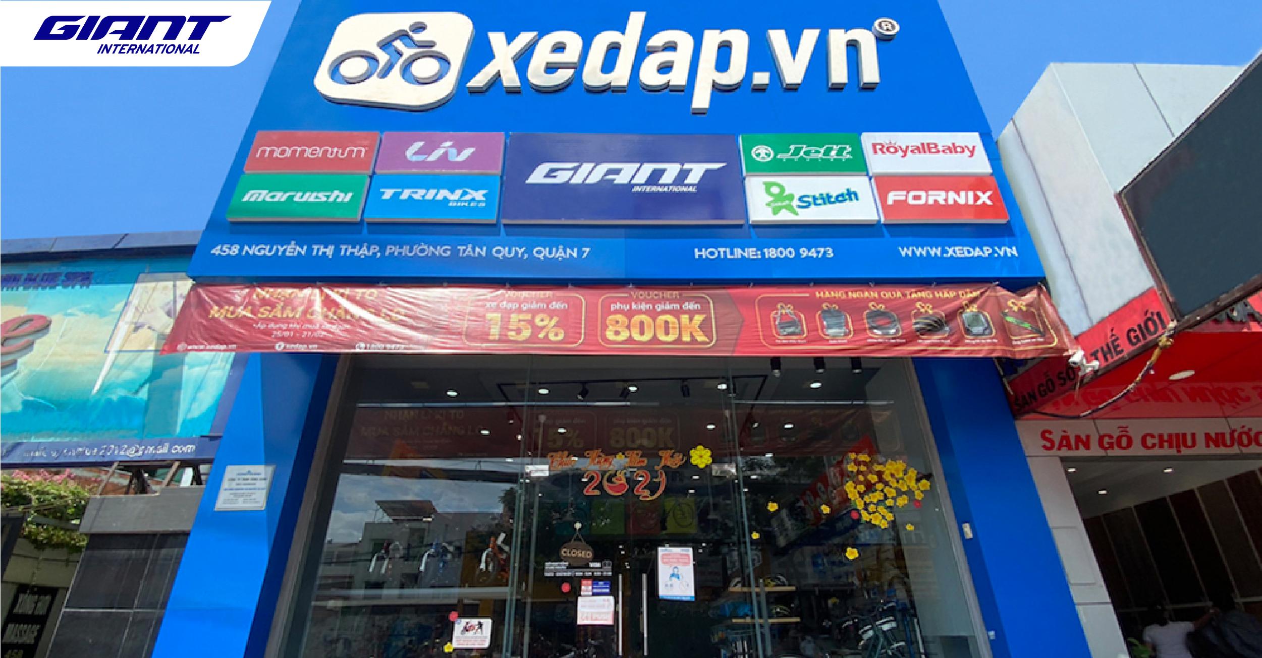 Mừng khai trương đại lý xe đạp Giant – Xedap.vn, tại 458 Nguyễn Thị Thập, Quận 7, TP. Hồ Chí Minh.