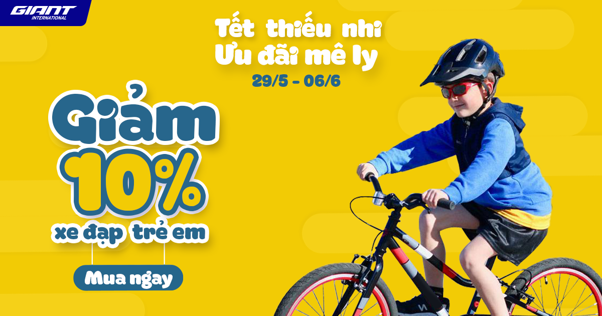 Khuyến mãi hấp dẫn khi mua xe đạp trẻ em nhân Quốc Tế Thiếu Nhi 1/6