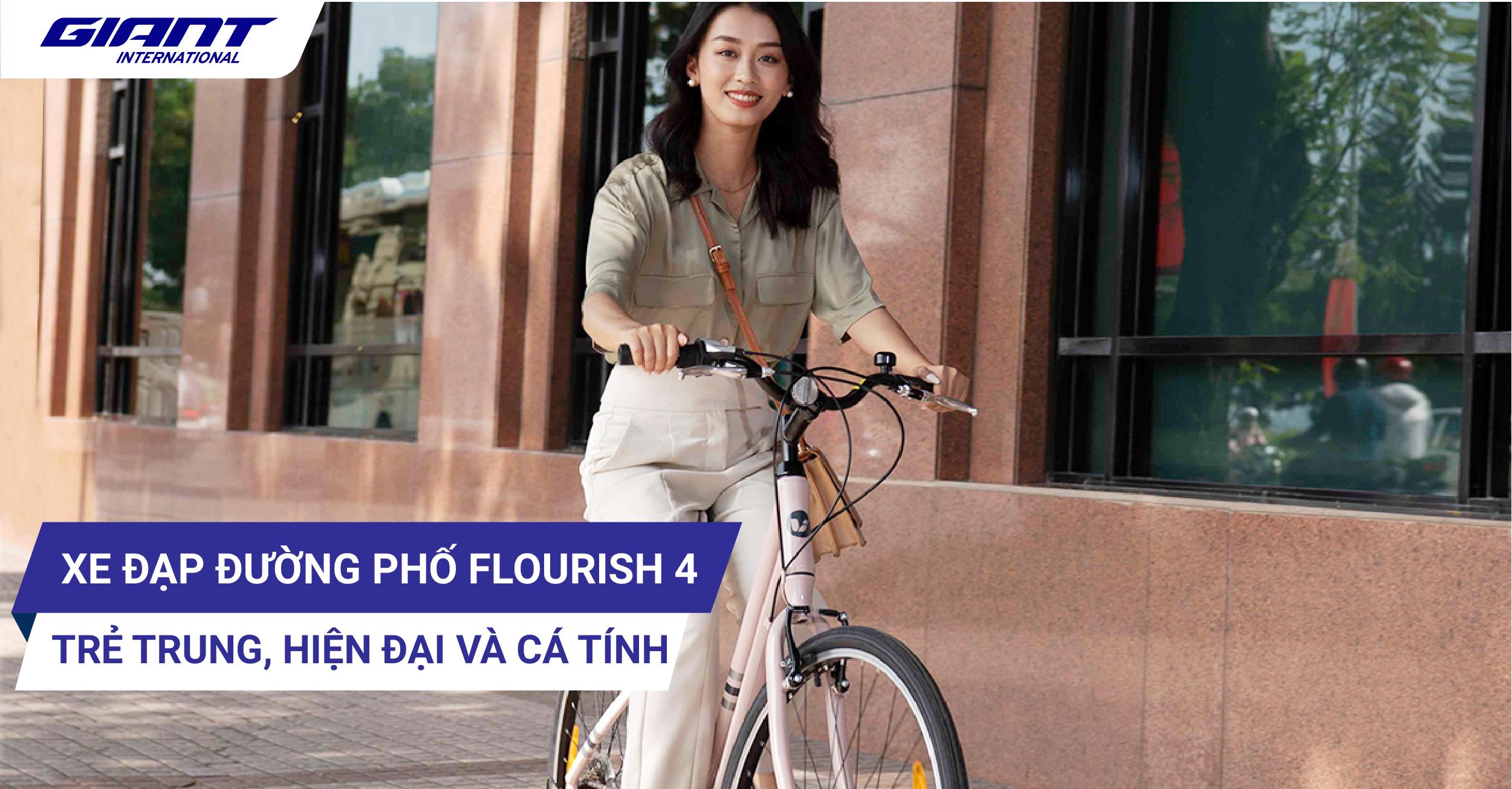 Xe đạp đường phố Flourish 4 trẻ trung, hiện đại và cá tính.