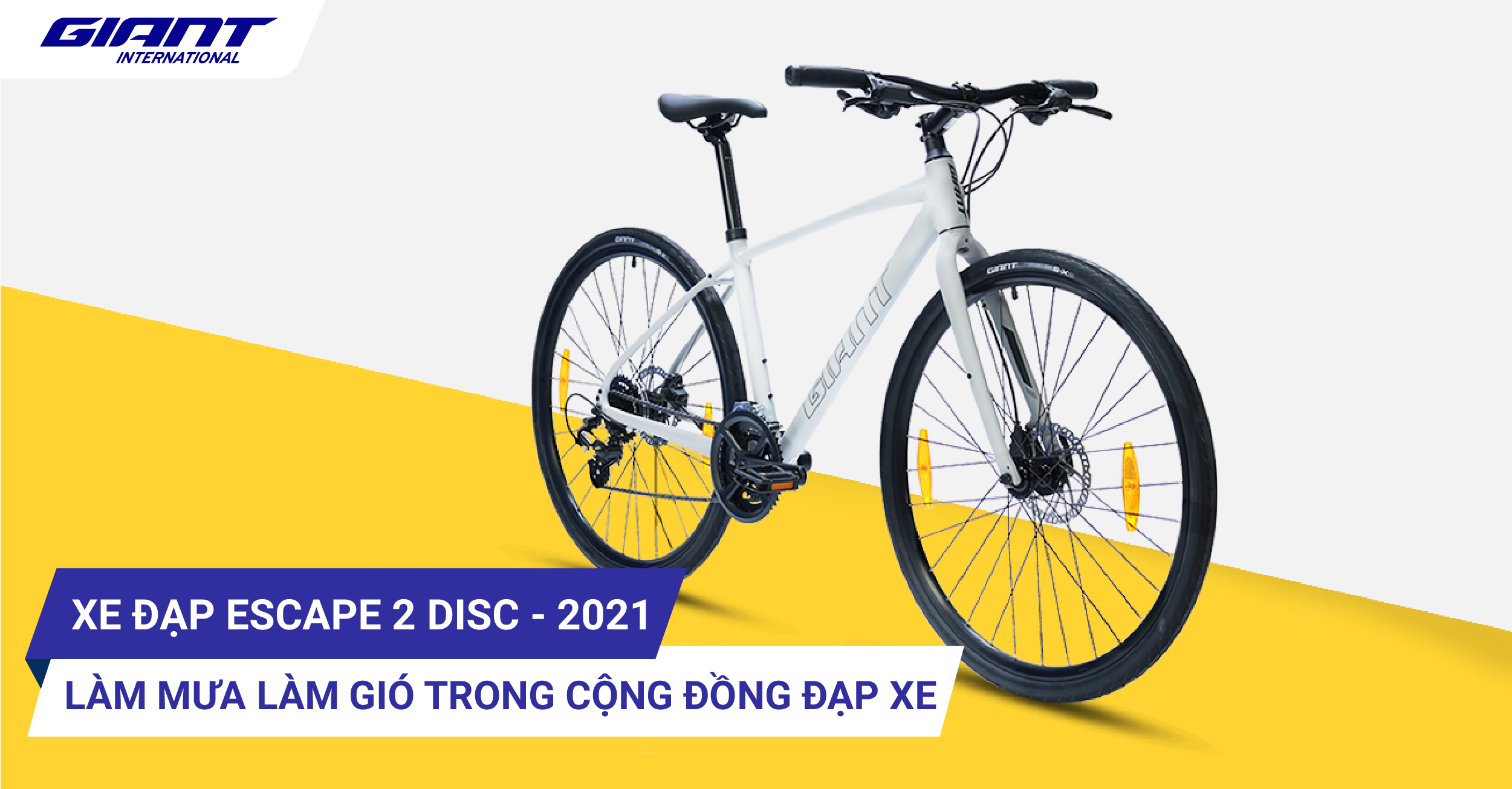 Xe đạp đường phố Escape 2 Disc – 2021 làm mưa làm gió trong cộng đồng đạp xe.