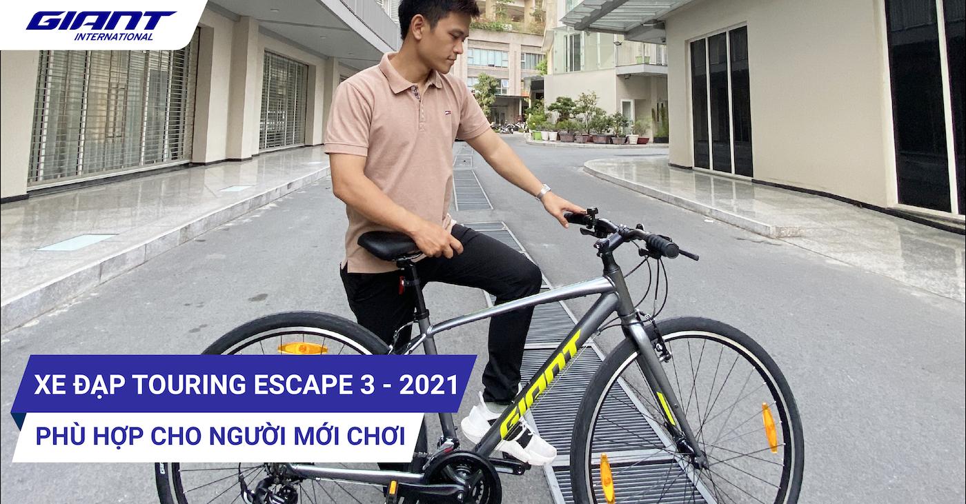 Xe đạp đường phố touring Giant Escape 3 – 2021 phù hợp cho người mới chơi